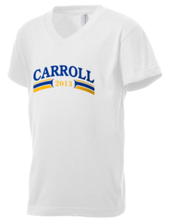 Holy Spirit Parish Carroll Kid's V-Neck Jersey T-Shirt