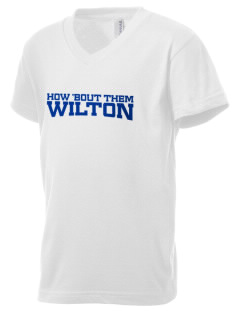 Our Lady of Fatima Parish Wilton Kid's V-Neck Jersey T-Shirt