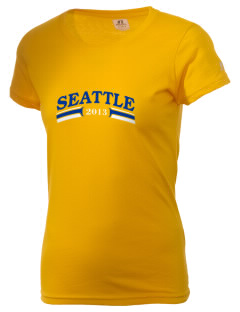 Our Lady of Lourdes Parish Seattle  Russell Women's Campus T-Shirt