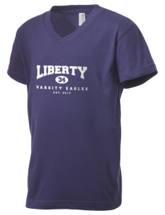 Liberty Elementary School Eagles Kid's V-Neck Jersey T-Shirt