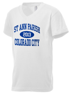 St Ann Parish Colorado City Kid's V-Neck Jersey T-Shirt