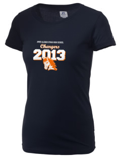 Amos Alonzo Stagg High School Chargers  Russell Women's Campus T-Shirt