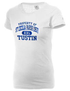 St Cecilia Parish (1957) Tustin  Russell Women's Campus T-Shirt