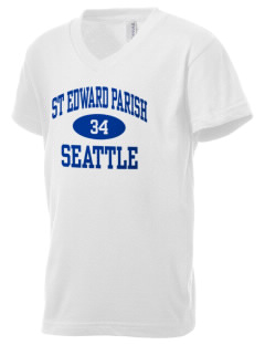 St Edward Parish Seattle Kid's V-Neck Jersey T-Shirt