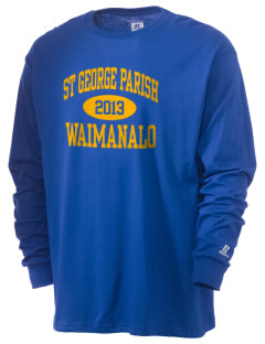 St George Parish Waimanalo  Russell Men's Long Sleeve T-Shirt