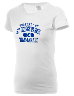 St George Parish Waimanalo  Russell Women's Campus T-Shirt