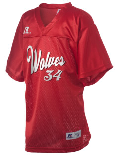 Niles West High School Wolves Russell Kid's Replica Football Jersey