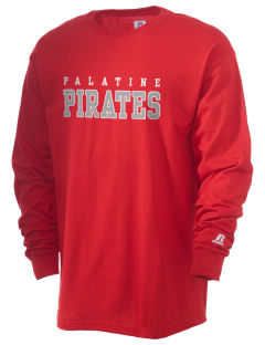 Palatine High School Pirates  Russell Men's Long Sleeve T-Shirt