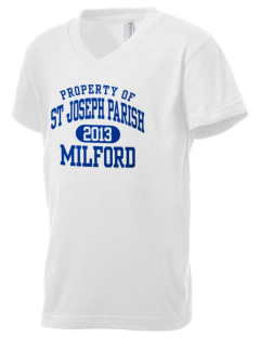 St Joseph Parish Milford Kid's V-Neck Jersey T-Shirt