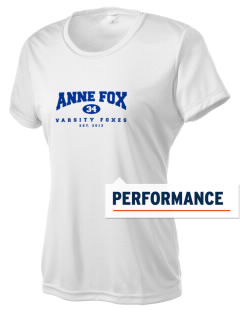 Anne Fox Elementary School Foxes Women's Competitor Performance T-Shirt
