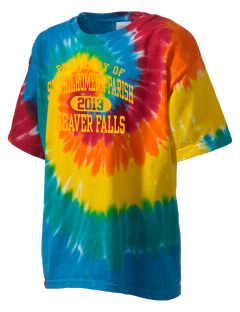 St Philhomena Parish Beaver Falls Kid's Tie-Dye T-Shirt