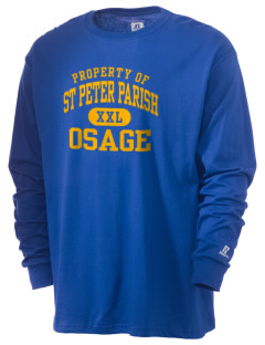 St Peter Parish Osage  Russell Men's Long Sleeve T-Shirt