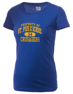 St. Pius X School Crusaders  Russell Women's Campus T-Shirt