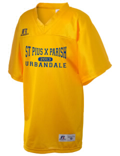 St Pius X Parish Urbandale Russell Kid's Replica Football Jersey