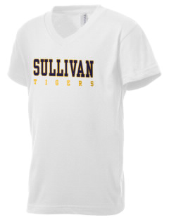Sullivan High School Tigers Kid's V-Neck Jersey T-Shirt