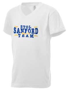 St. Therese of Lisieux Sanford Kid's V-Neck Jersey T-Shirt