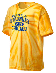 St. Willaim Parish Chicago Kid's Tie-Dye T-Shirt