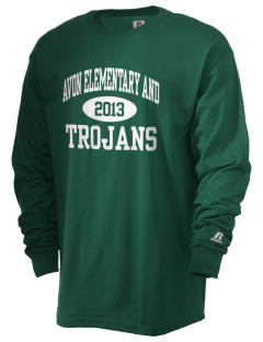 Avon Elementary And Middle School Trojans  Russell Men's Long Sleeve T-Shirt