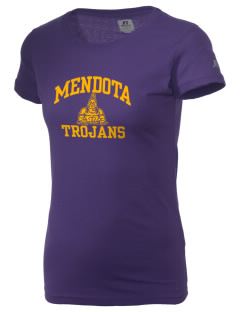 Mendota Township High School Trojans  Russell Women's Campus T-Shirt