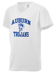 Auburn High School Trojans Kid's V-Neck Jersey T-Shirt