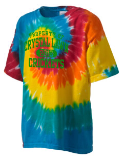 Crystal Lawn Elementary School Crickets Kid's Tie-Dye T-Shirt