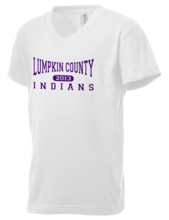 Lumpkin County Elementary School Indians Kid's V-Neck Jersey T-Shirt