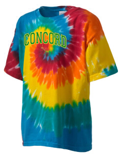 Concord High School Minutemen Kid's Tie-Dye T-Shirt