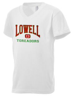 Lowell Elementary School Toreadors Kid's V-Neck Jersey T-Shirt