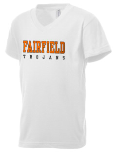 Fairfield Senior High School Trojans Kid's V-Neck Jersey T-Shirt