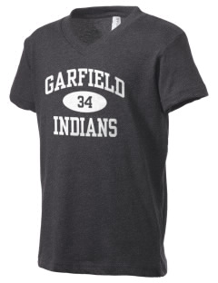 Garfield Elementary School Indians Kid's V-Neck Jersey T-Shirt