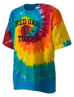 Red Oak Middle School Tigers Kid's Tie-Dye T-Shirt
