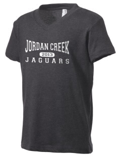 Jordan Creek Elementary School Jaguars Kid's V-Neck Jersey T-Shirt