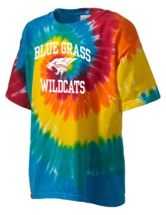 Blue Grass Elementary School Wildcats Kid's Tie-Dye T-Shirt