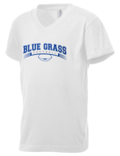 Blue Grass Elementary School Wildcats Kid's V-Neck Jersey T-Shirt