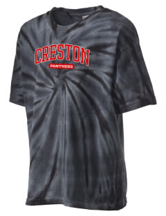 Creston Senior High School Panthers Kid's Tie-Dye T-Shirt