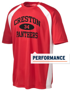 Creston Senior High School Panthers Men's Dry Zone Colorblock T-Shirt