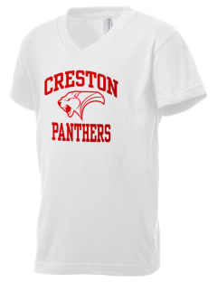 Creston Senior High School Panthers Kid's V-Neck Jersey T-Shirt