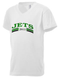 James Elementary School Jets Kid's V-Neck Jersey T-Shirt