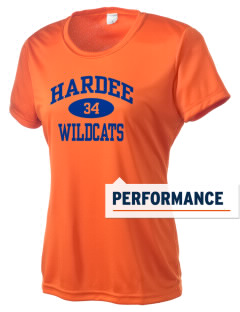 Hardee Junior High School Wildcats Women's Competitor Performance T-Shirt