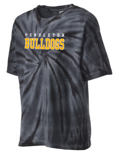 Pendleton Junior High School Bulldogs Kid's Tie-Dye T-Shirt