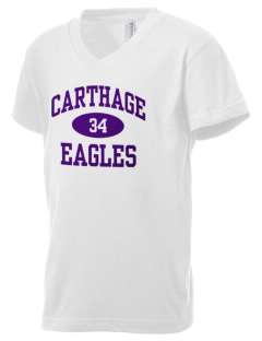 Carthage Elementary School Eagles Kid's V-Neck Jersey T-Shirt