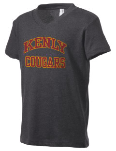 Kenly Elementary School Cougars Kid's V-Neck Jersey T-Shirt