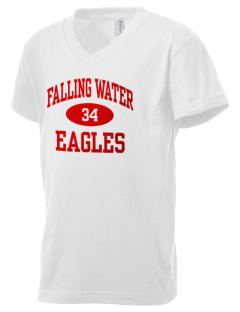 Falling Water Elementary School Eagles Kid's V-Neck Jersey T-Shirt
