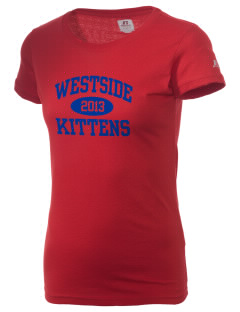Westside Elementary School Kittens  Russell Women's Campus T-Shirt