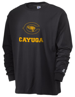 Cayuga Elementary School Wildcats  Russell Men's Long Sleeve T-Shirt