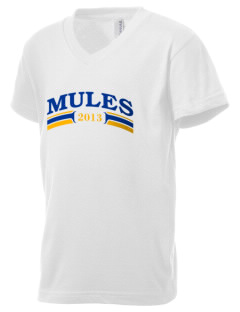 Alamo Heights High School Mules Kid's V-Neck Jersey T-Shirt