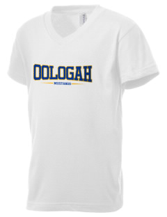 Oologah High School Mustangs Kid's V-Neck Jersey T-Shirt