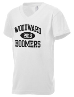 Woodward Senior High School Boomers Kid's V-Neck Jersey T-Shirt