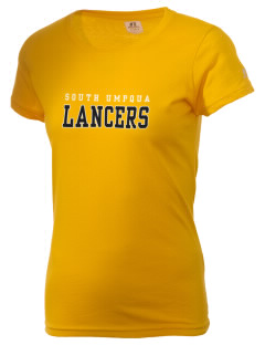 South Umpqua High School Lancers  Russell Women's Campus T-Shirt