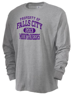 Falls City Elementary School Mountaineers  Russell Men's Long Sleeve T-Shirt